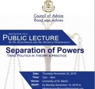 Everything set for the Separation of Powers Council of Advice lecture on Thursday