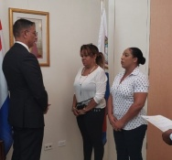 Two new KPSM officers sworn-in at the detectives and border control