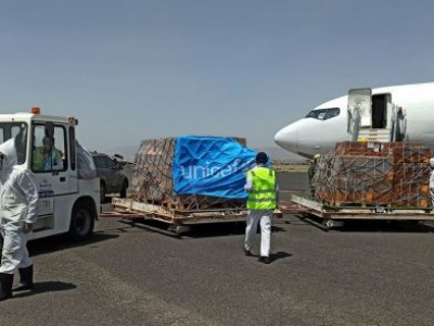 Yemen: Amid spike in COVID-19 cases, UNICEF airlifts in badly needed health supplies