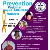 GHBU Masters Counselling Students to Host Suicide Prevention Awareness Webinar