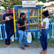 Rotary Sunset Launches Little Free Library
