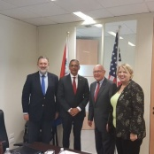 Minister Geerlings discusses issues of mutual interests with US Ambassador