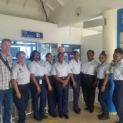 Immigration personnel meet their French side counterparts and visit ports of entry