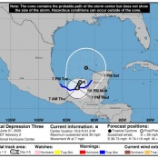 TD#3 forecast to become third tropical storm of the 2020 hurricane season
