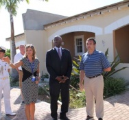 Governor Holiday Visits Divi Little Bay Beach Resort as part of post hurricane recovery
