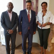 MP Mercelina pays a courtesy visit to the Minister Plenipotentiary of Sint Maarten and her Cabinet