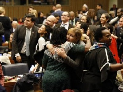 UN commission agrees roadmap on ensuring women's social protection, mobility, safety, and access to economic opportunities